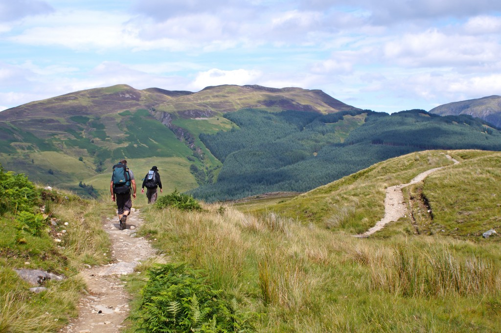 The West Highland Way through beautiful nature