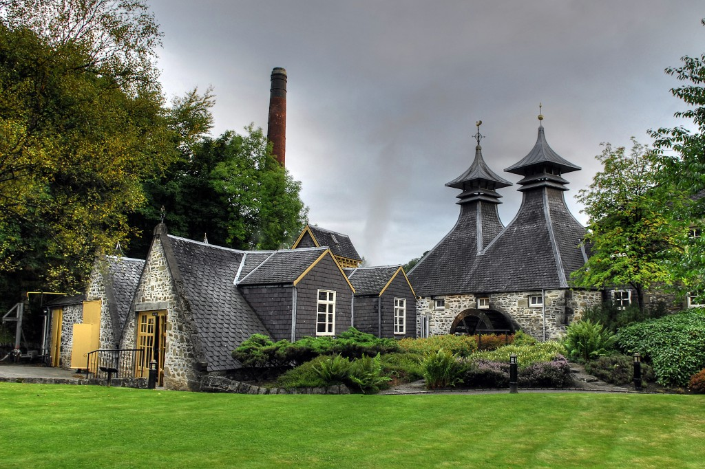 Traditional whiskey distillery in Scotland